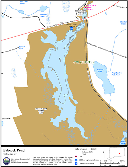 Babcock Pond Map