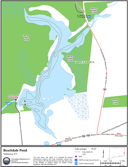 Beachdale Pond Map