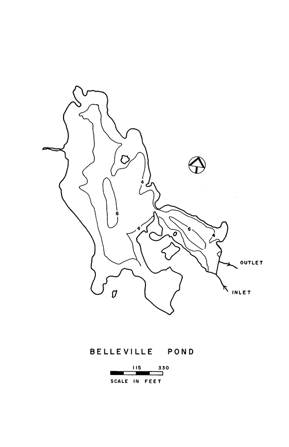 Belleville Pond Lake Map