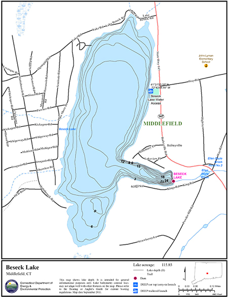 Beseck Lake Map
