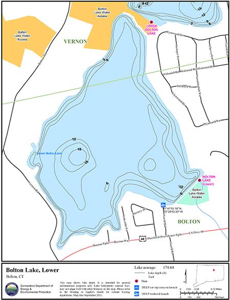Bolton Lake, Lower Map