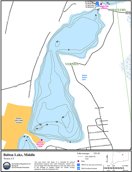 Bolton Lake, Middle Map