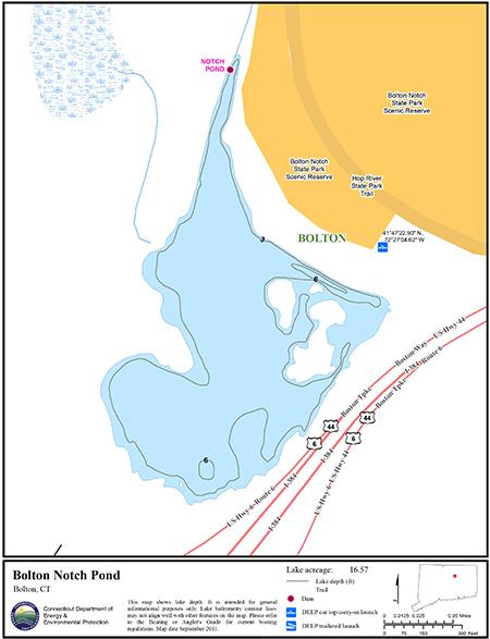 Bolton Notch Pond Map