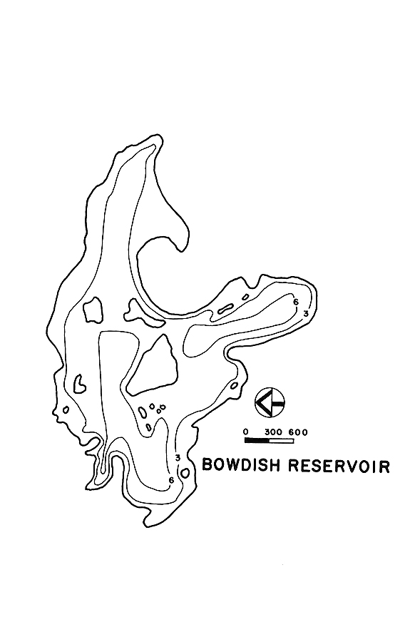 Bowdish Reservoir Map