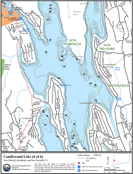 Candlewood Lake Map