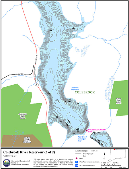 Colebrook River Reservoir Map