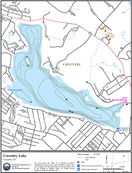 Coventry Lake Map