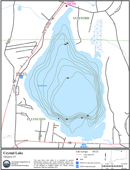 Crystal Lake Ellington Map