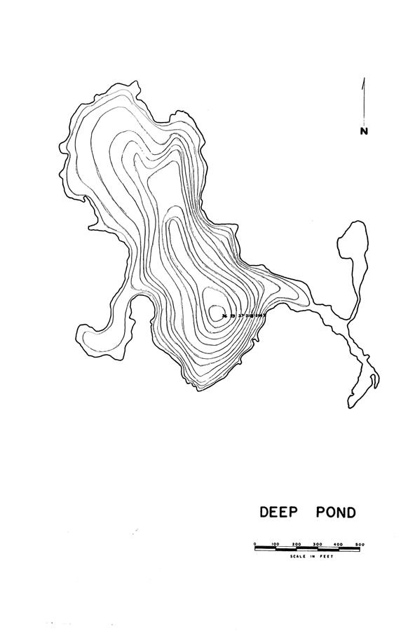 Deep Pond Lake Map