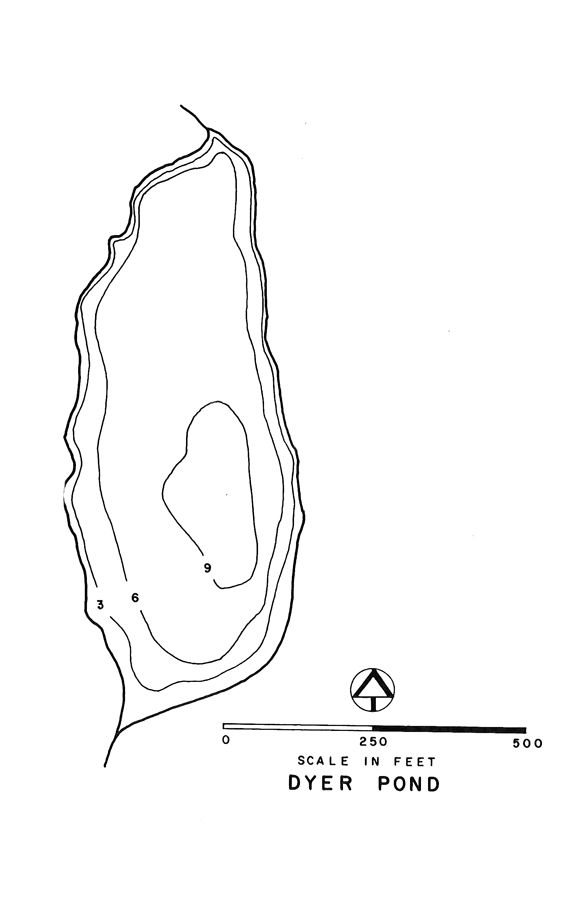 Dyer Pond Lake Map