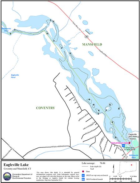 Eagleville Lake Map