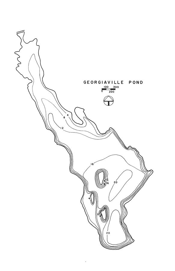 Georgiaville Pond Lake Map