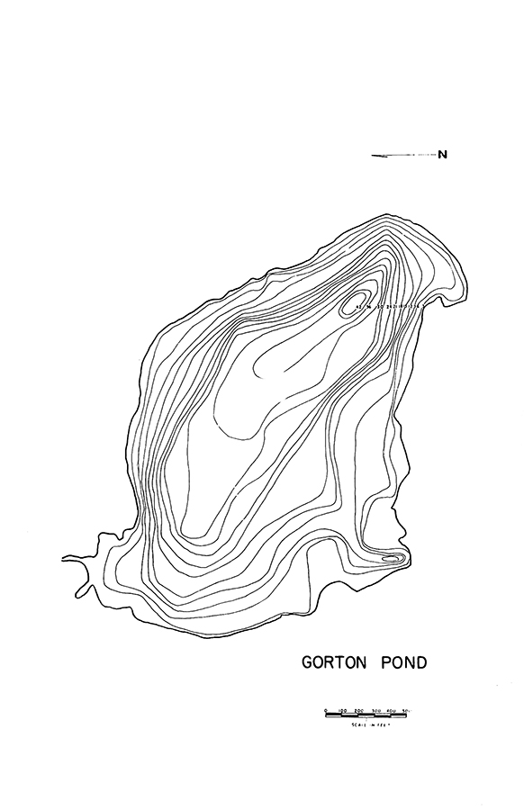 Gorton Pond Lake Map