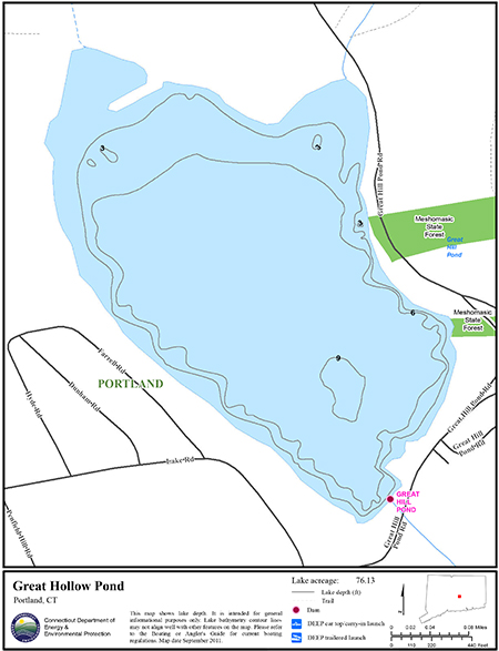 Great Hollow Pond Map