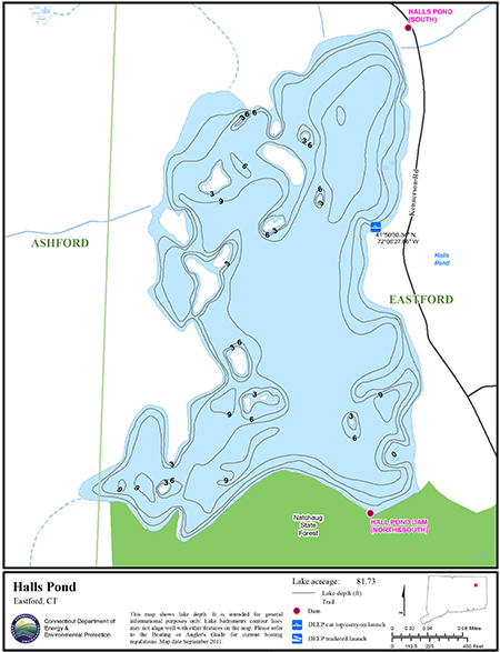 Halls Pond Map