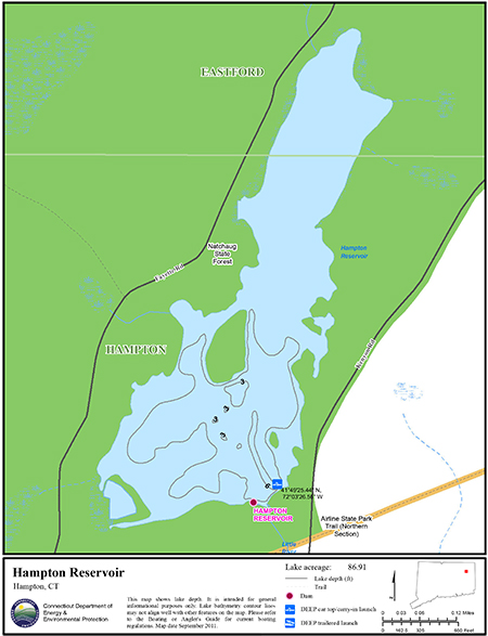 Hampton Reservoir Map