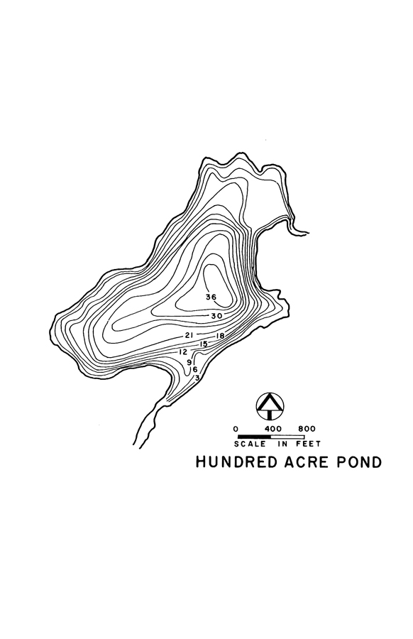 Hundred Acre Pond Lake Map