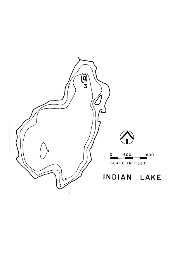 Indian Lake Map