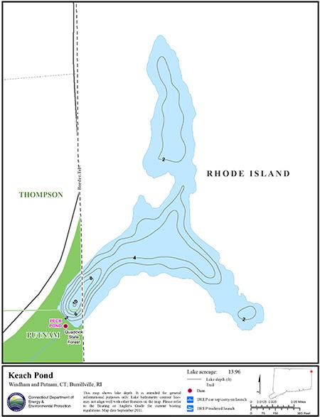 Keach Pond Map