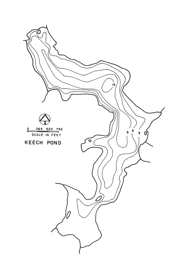 Keech Pond Lake Map