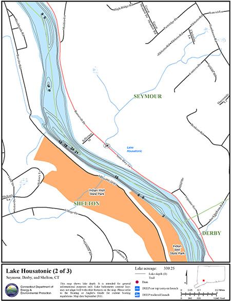 Lake Housatonic Map