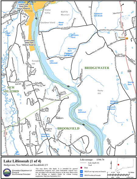 Lake Lillinonah Map