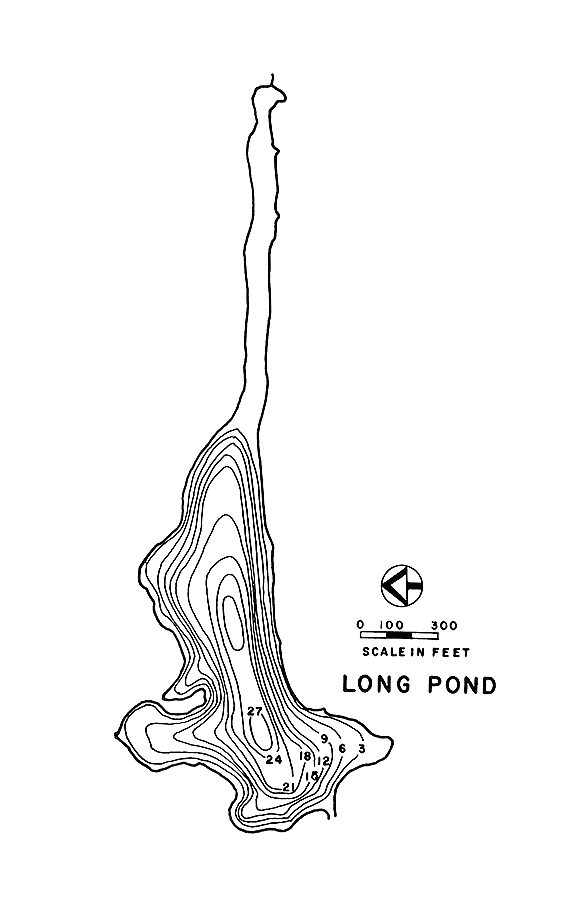 Long Pond Lake Map