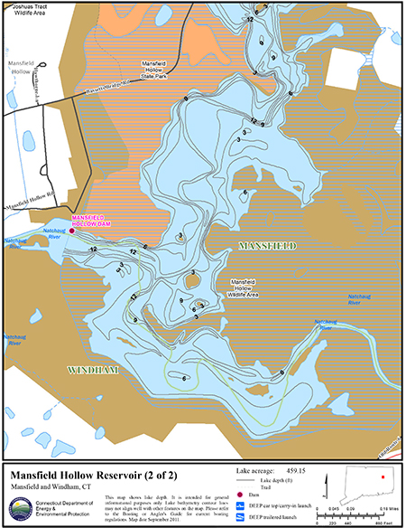 Mansfield Hollow Reservoir Map