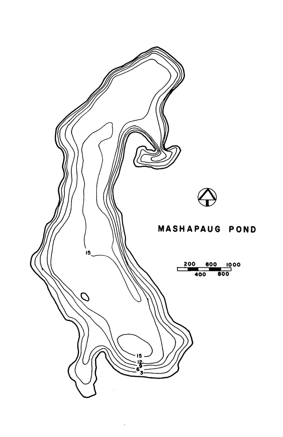 Mashapaug Pond Lake Map