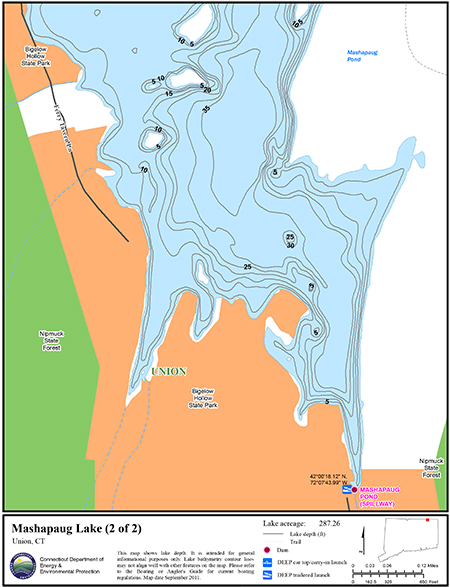 Mashapaug Lake Map