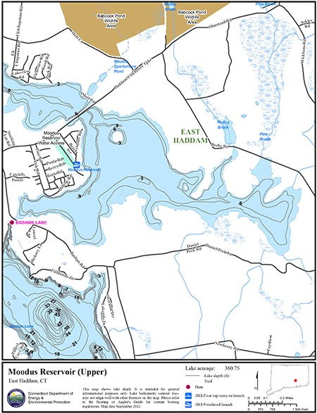 Moodus Reservoir Upper Map