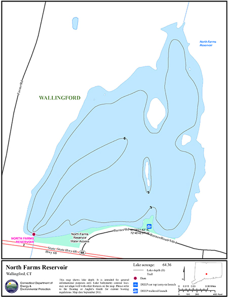 North Farms Reservoir Map