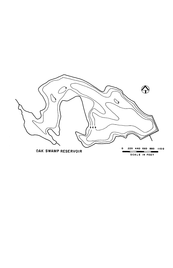 Oak Swamp Reservoir Map