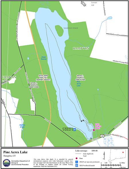 Pine Acres Lake Map