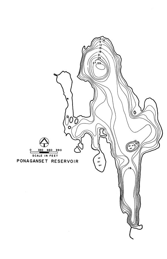 Ponaganset Reservoir Map