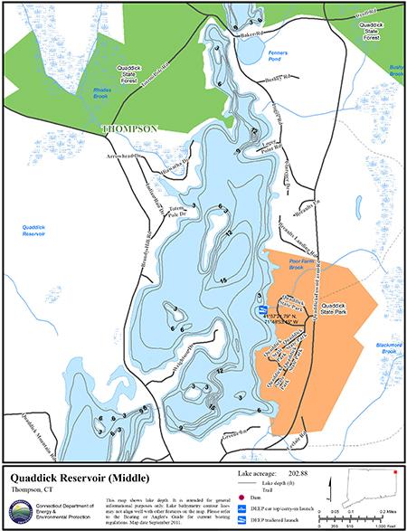 Quaddick Reservoir Middle Map