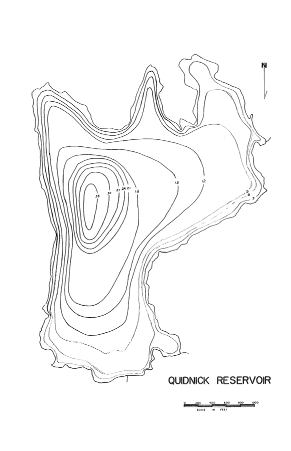 Quidnick Reservoir Map