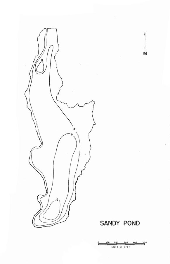 Sandy Pond Lake Map