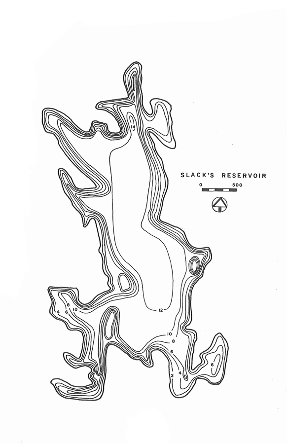 Slacks Reservoir Map
