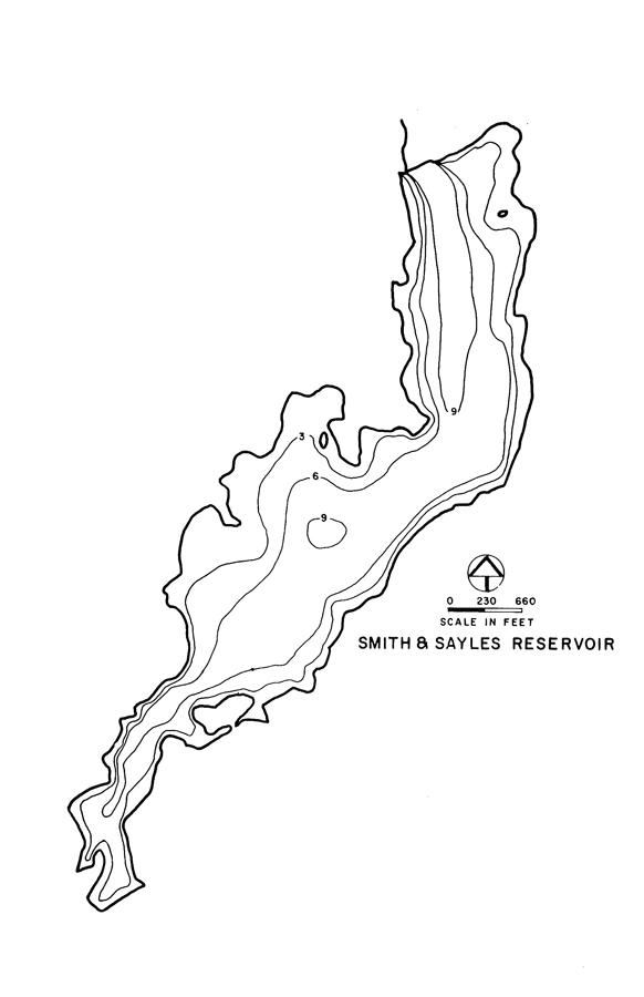 Smith & Sayles Reservoir Map