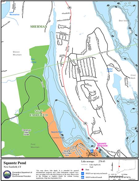 Squantz Pond Map