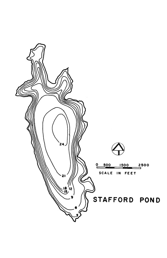 Stafford Pond Lake Map