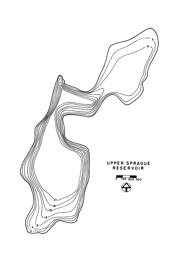 Upper Sprague Reservoir Map