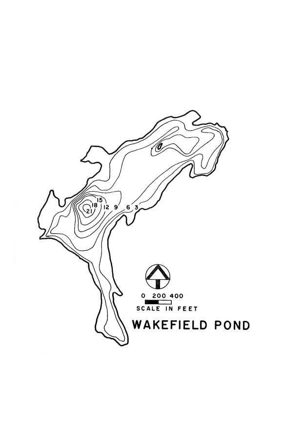 Wakefield Pond Lake Map