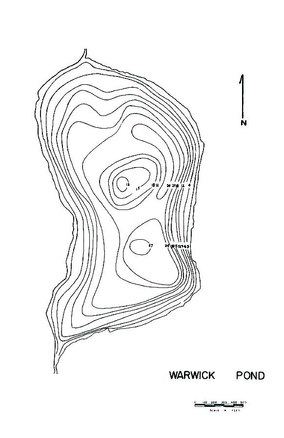 Warwick Pond Lake Map
