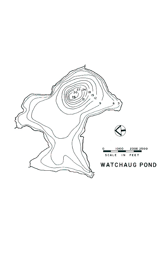 Watchaug Pond Lake Map