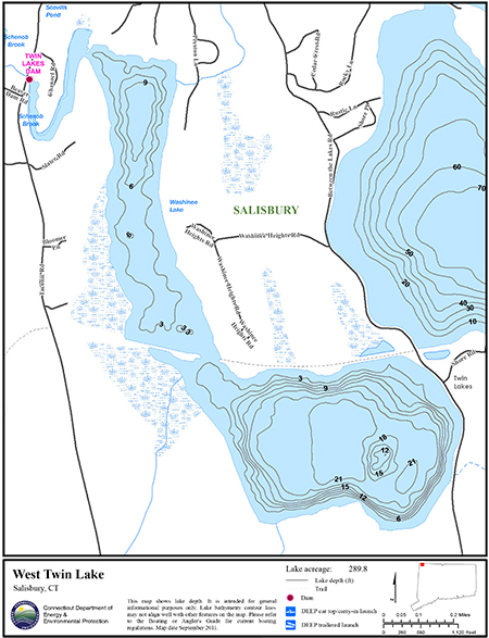 West Twin Lake Map