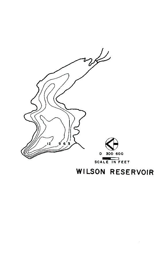 Wilson Reservoir Map
