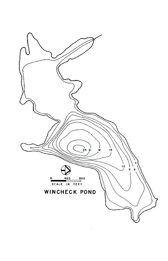 Wincheck Pond Lake Map