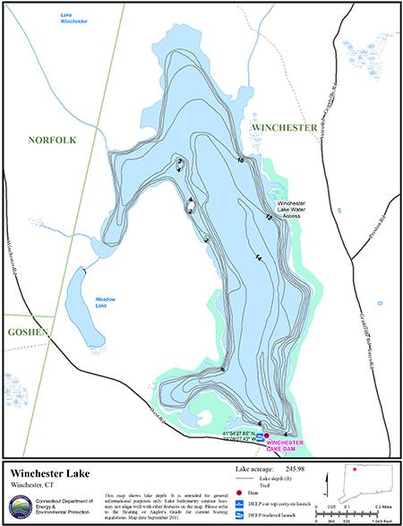 Winchester Lake Map